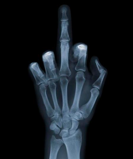 up middle finger
